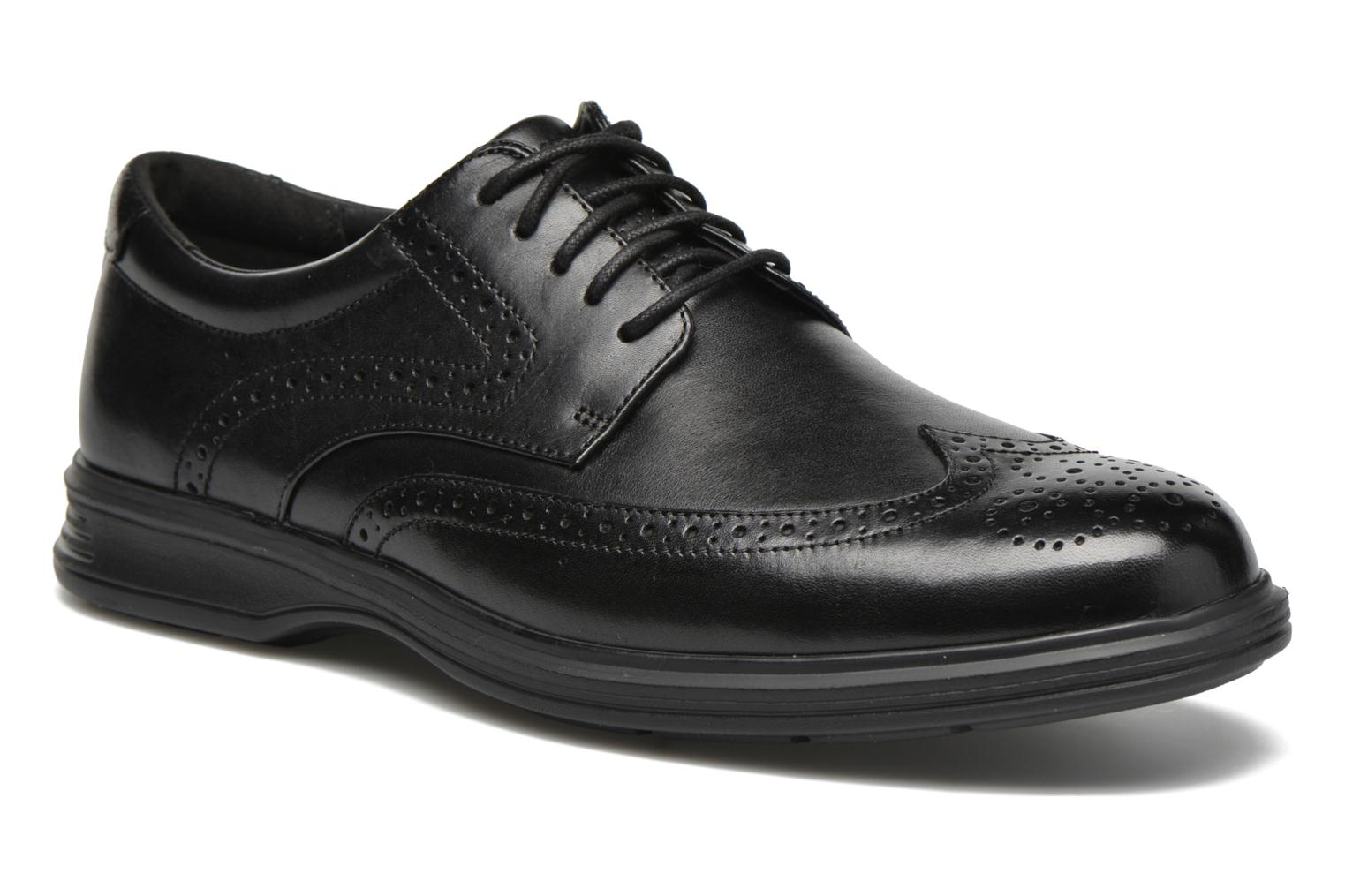 Lace-up shoes Rockport DP2 Light Wing Tip Black detailed view/ Pair view