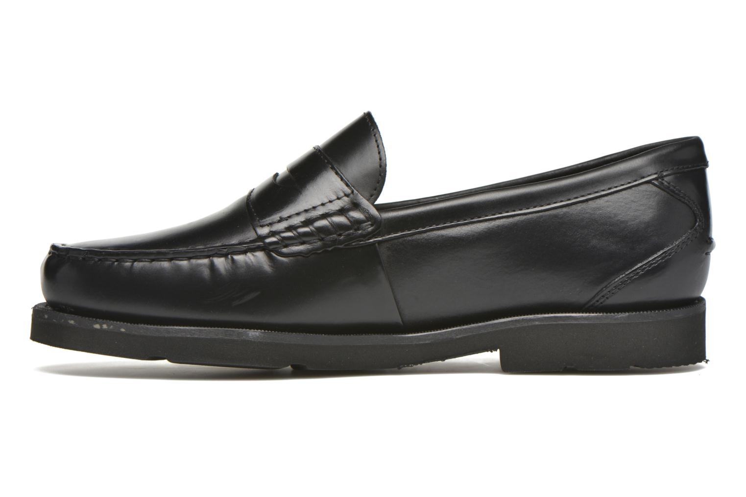 Mocasines Rockport Penny Loafer Negro vista de frente