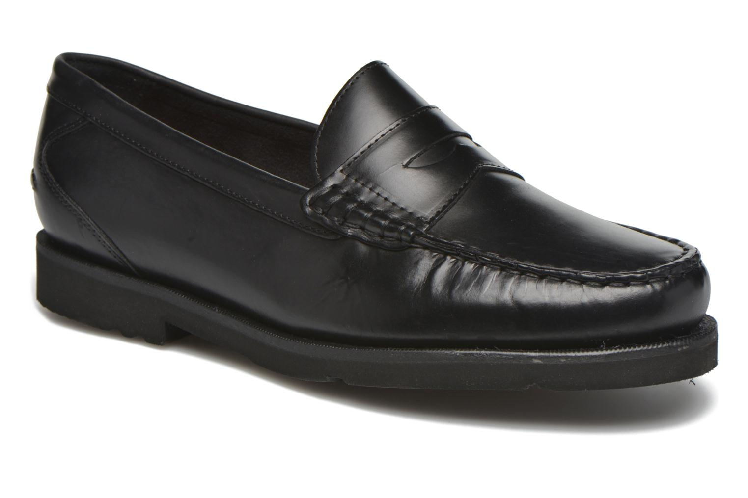 Mocassins Rockport Penny Loafer Zwart detail