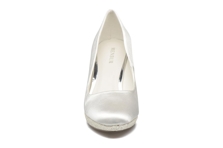 Escarpins Menbur Cecilia Blanc vue portées chaussures