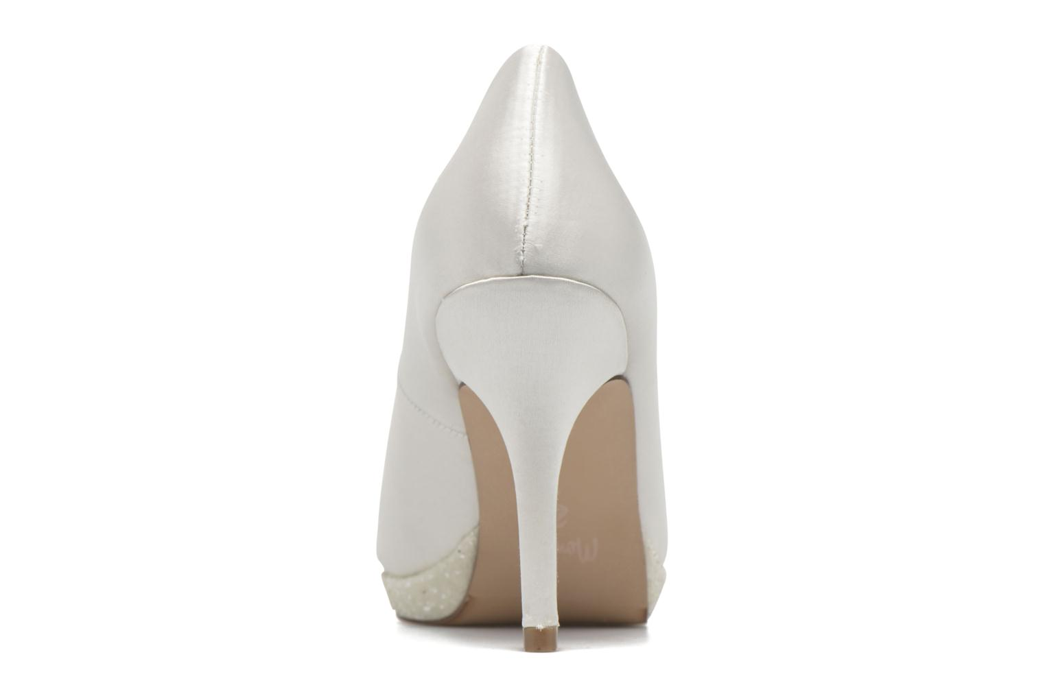 High heels Menbur Cecilia White view from the right