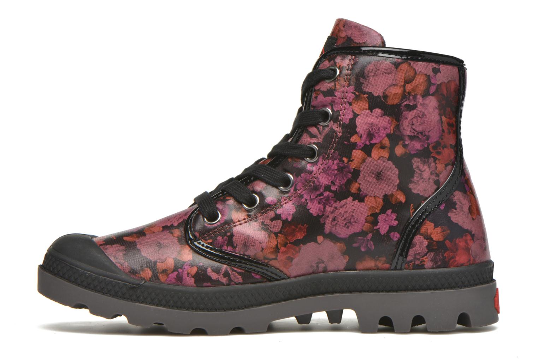Bottines et boots Palladium Pampa HI Flo F Bordeaux vue face