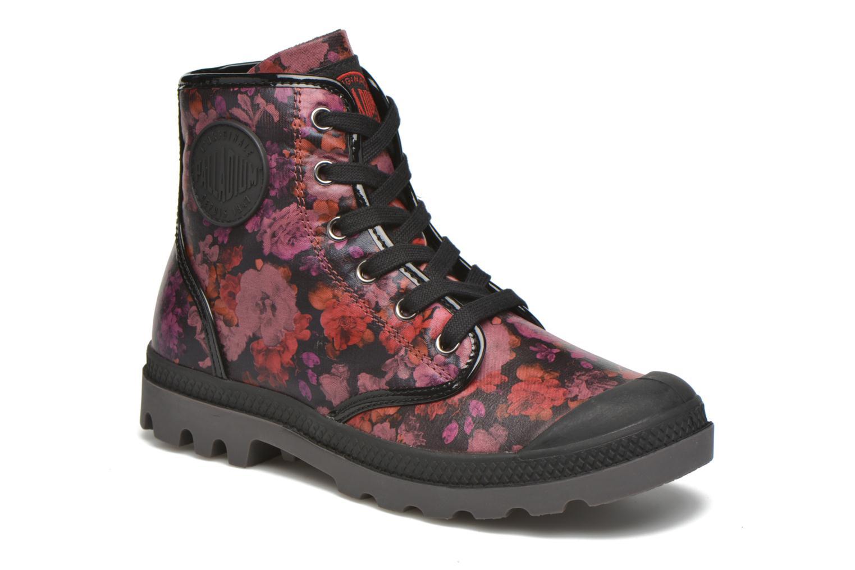 Bottines et boots Palladium Pampa HI Flo F Bordeaux vue détail/paire