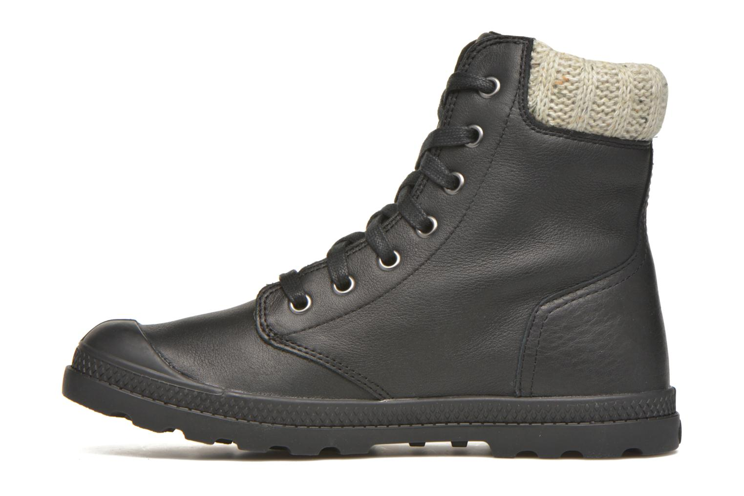 Bottines et boots Palladium Pampa Knit LP F Noir vue face