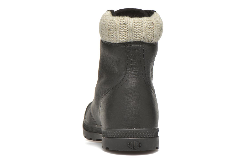 Stiefeletten & Boots Palladium Pampa Knit LP F schwarz ansicht von rechts