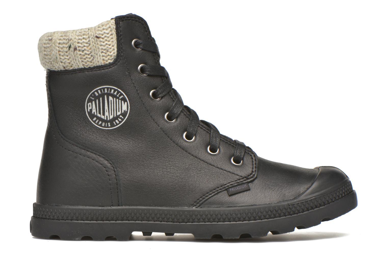 Stiefeletten & Boots Palladium Pampa Knit LP F schwarz ansicht von hinten