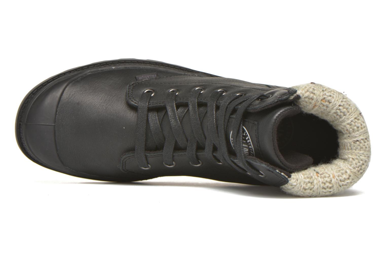 Stiefeletten & Boots Palladium Pampa Knit LP F schwarz ansicht von links
