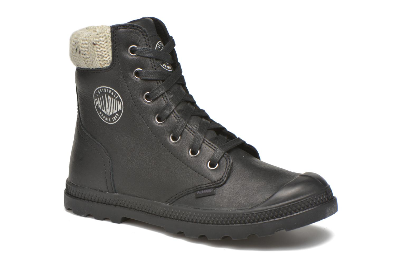 Stiefeletten & Boots Palladium Pampa Knit LP F schwarz detaillierte ansicht/modell