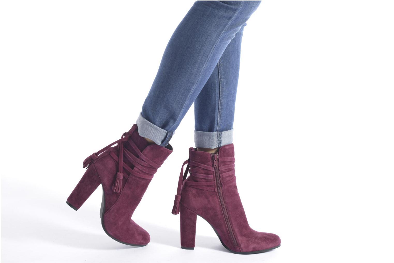 Bottines et boots Steve Madden Glorria Bordeaux vue bas / vue portée sac