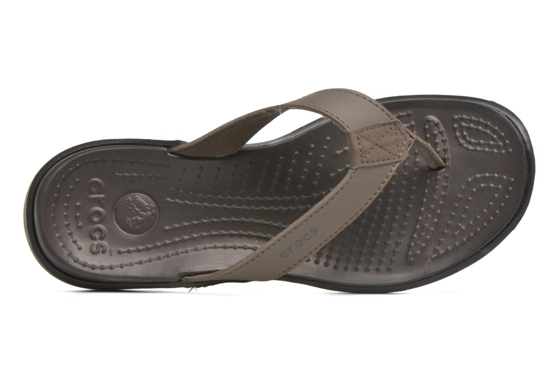 Tongs Crocs Crete Colorlite Flip M Noir vue gauche