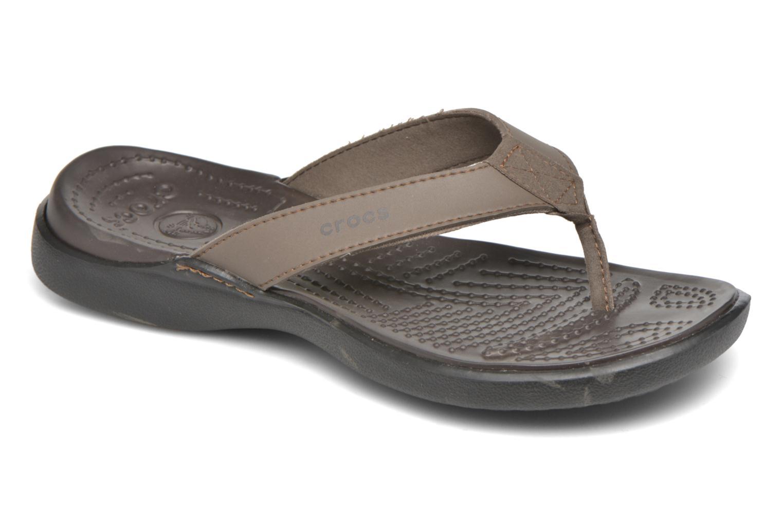 Tongs Crocs Crete Colorlite Flip M Noir vue détail/paire