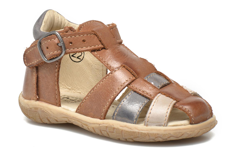 Sandals Noël Mini Taro Brown detailed view/ Pair view