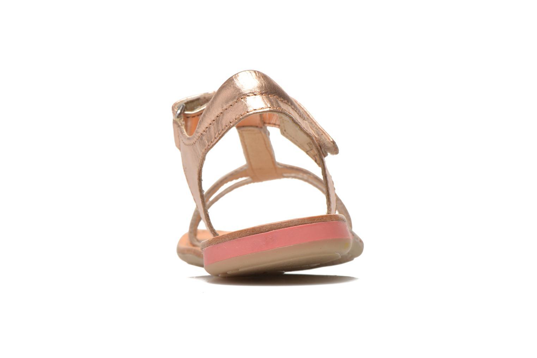 Sandales et nu-pieds Noël Solène Rose vue droite
