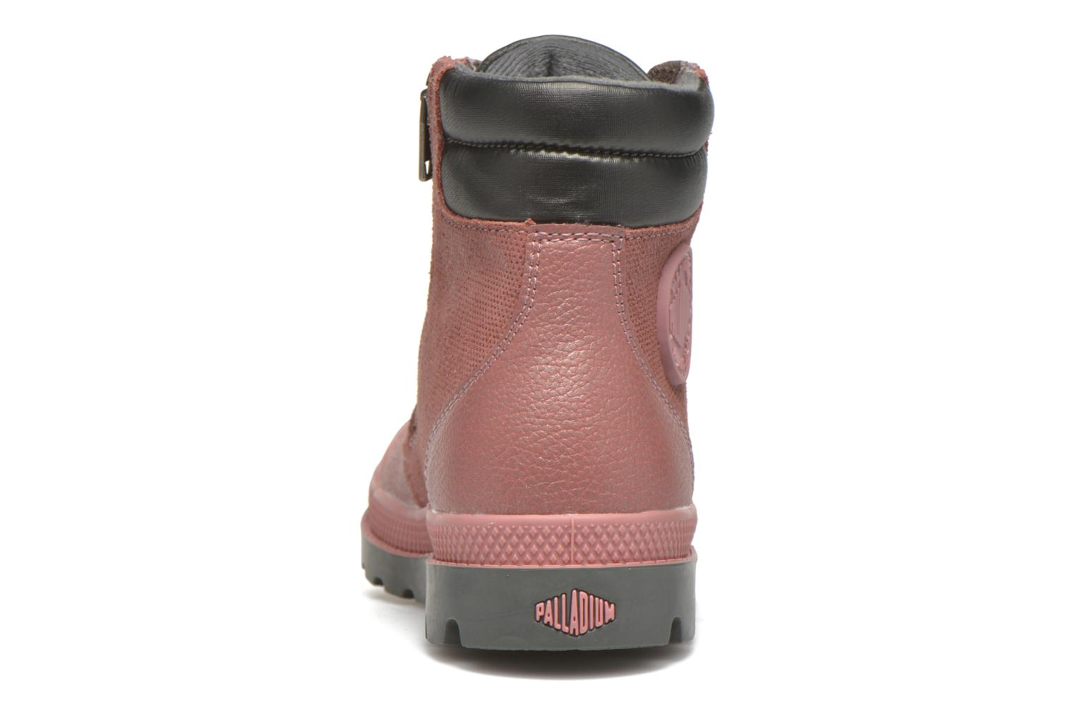 Ankle boots Palladium Wendy FL K Pink view from the right