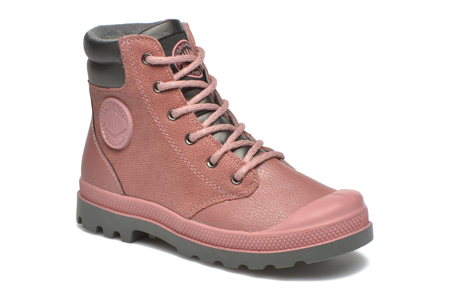 Ankle boots Palladium Wendy FL K Pink detailed view/ Pair view