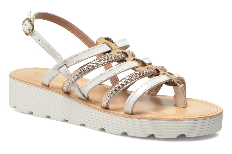 Sandales et nu-pieds Elizabeth Stuart Hicar 885 Blanc vue détail/paire