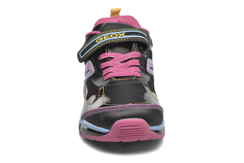 Baskets Geox J Android Girl Noir vue portées chaussures