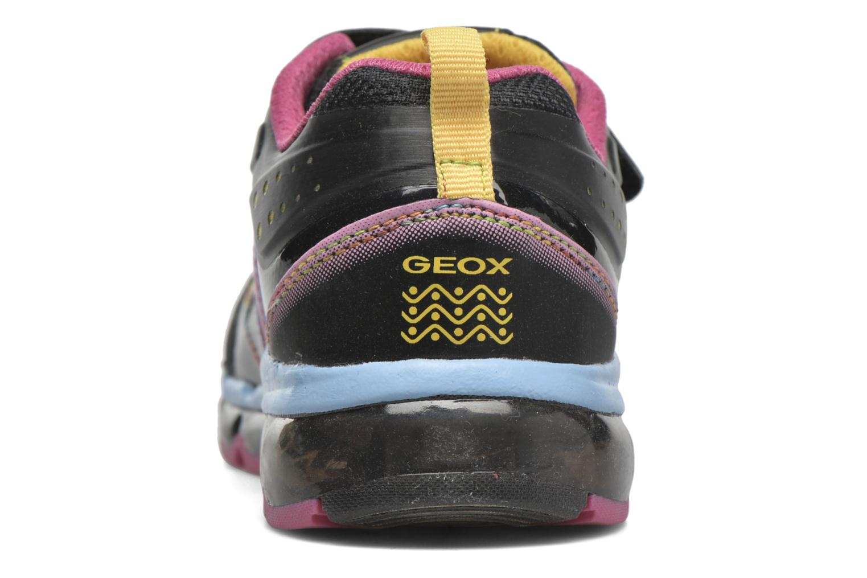 Baskets Geox J Android Girl Noir vue droite