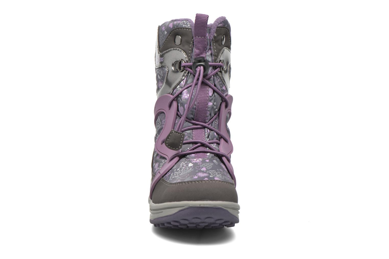 Bottines et boots Geox J Roby B Girl ABX J5418B Gris vue portées chaussures