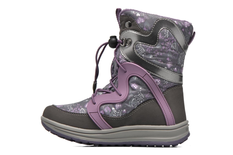 Bottines et boots Geox J Roby B Girl ABX J5418B Gris vue face