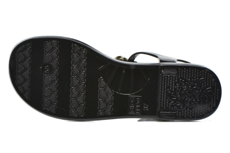 Sandales et nu-pieds Gioseppo Azzurra Noir vue haut
