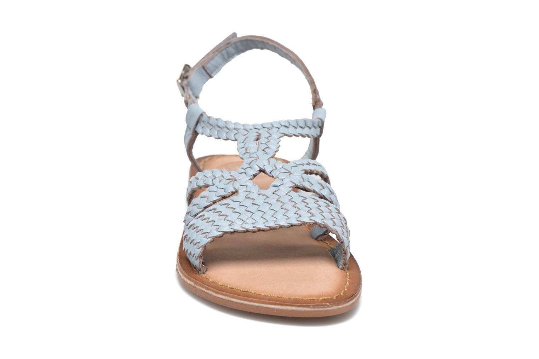 Sandales et nu-pieds Gioseppo Jacinthe Bleu vue portées chaussures