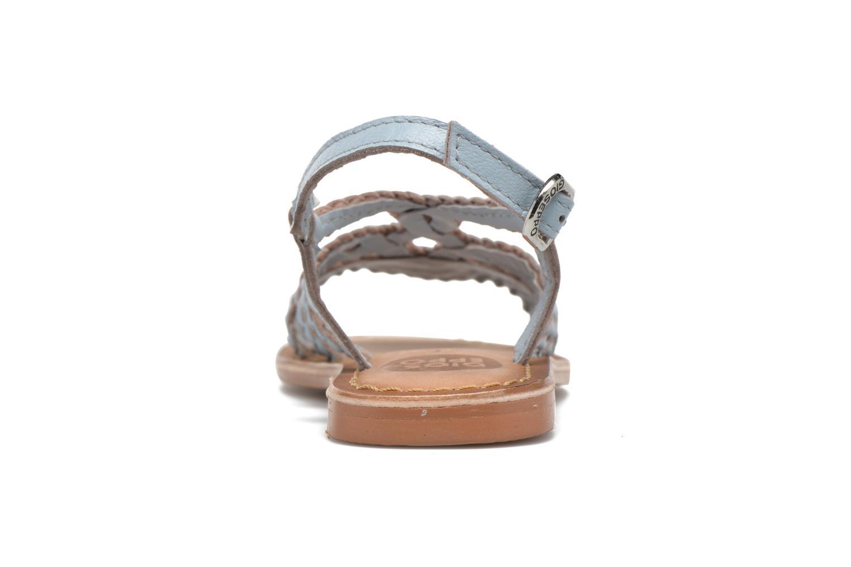 Sandales et nu-pieds Gioseppo Jacinthe Bleu vue droite