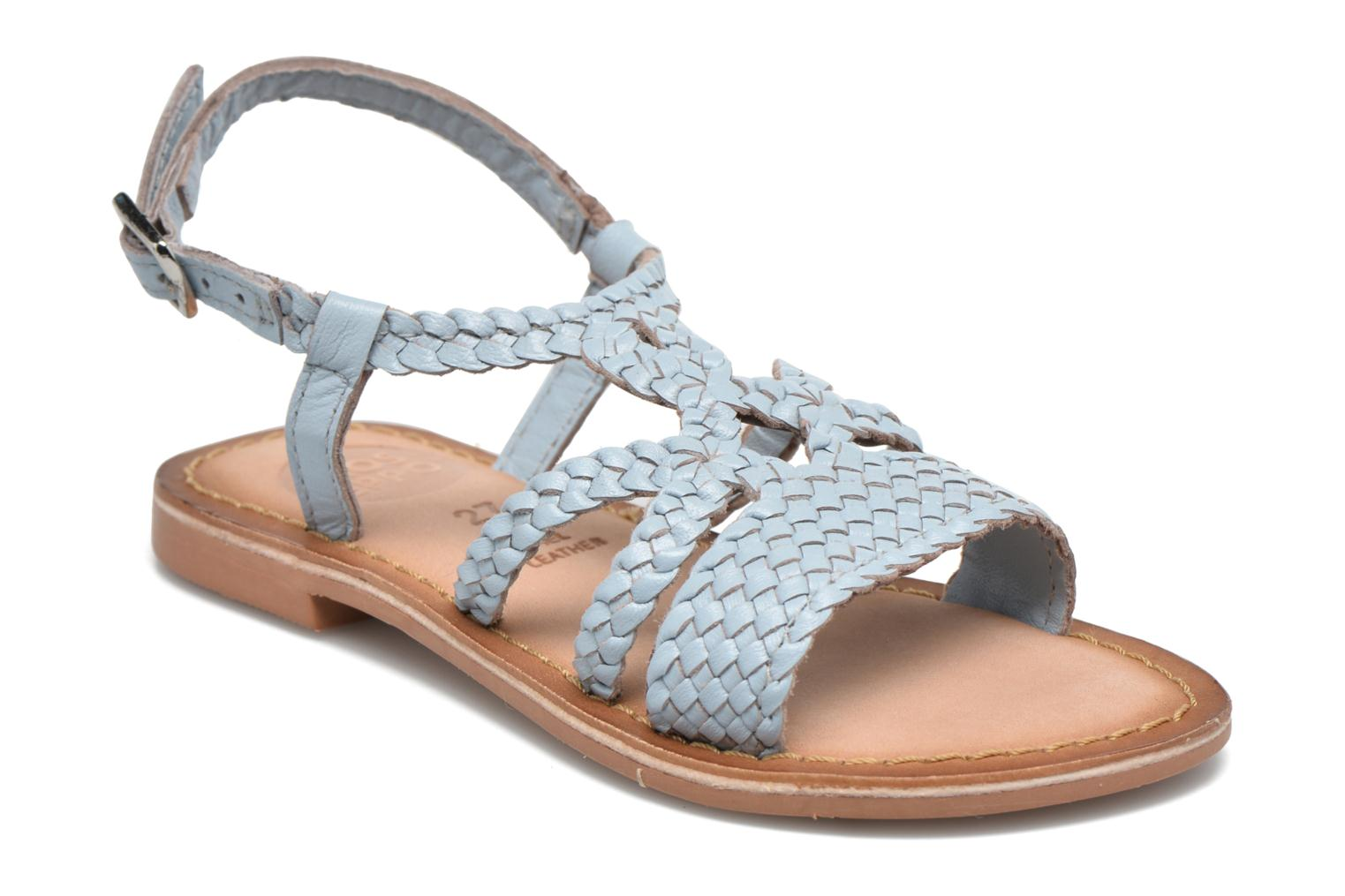 Sandals Gioseppo Jacinthe Blue detailed view/ Pair view