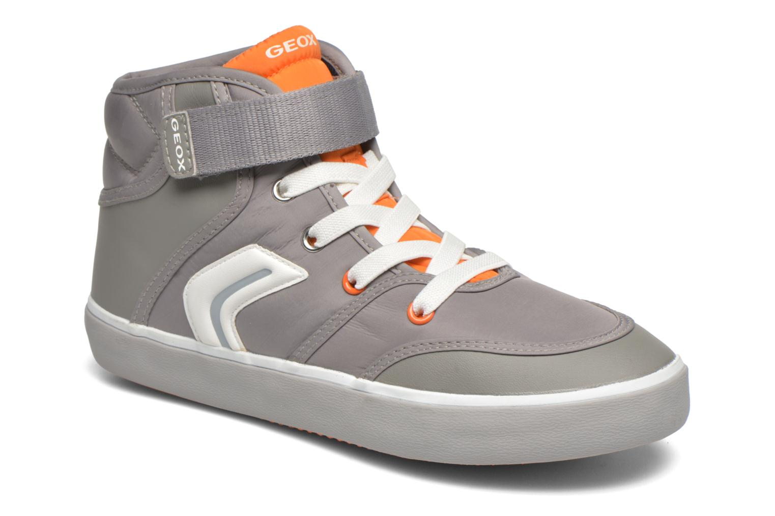 Trainers Geox JR Kiwi Boy J54A7A Grey detailed view/ Pair view