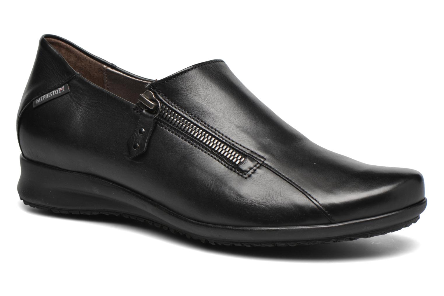 Loafers Mephisto Faye Black detailed view/ Pair view