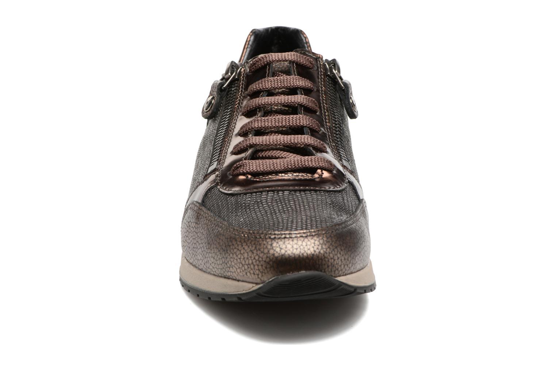 Baskets Mephisto Nona Or et bronze vue portées chaussures