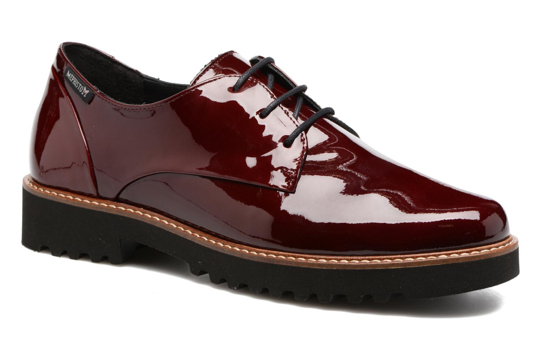 Chaussures à lacets Mephisto Sabatina Bordeaux vue détail/paire