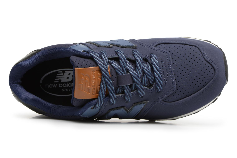 Sneaker New Balance KL574 M blau ansicht von links