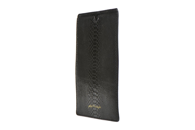Big Etoile Porte iPad Black exotic cow split foil
