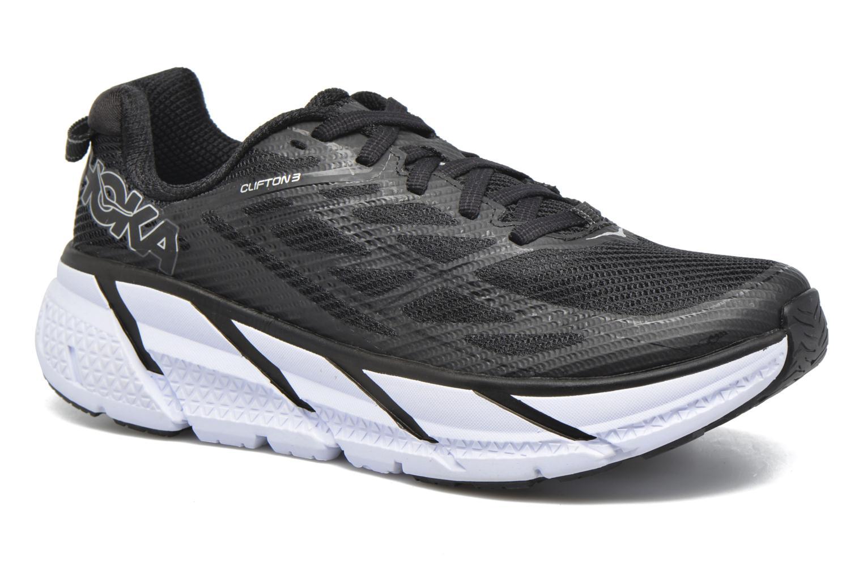 Chaussures de sport Hoka One One Clifton 3 W Noir vue détail/paire