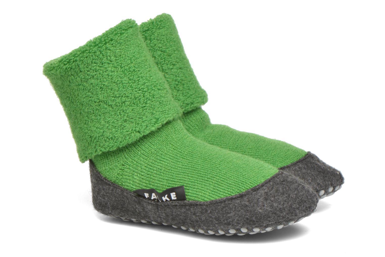 Chaussettes et collants Falke Chaussons-chaussettes Cosyshoes Vert vue détail/paire