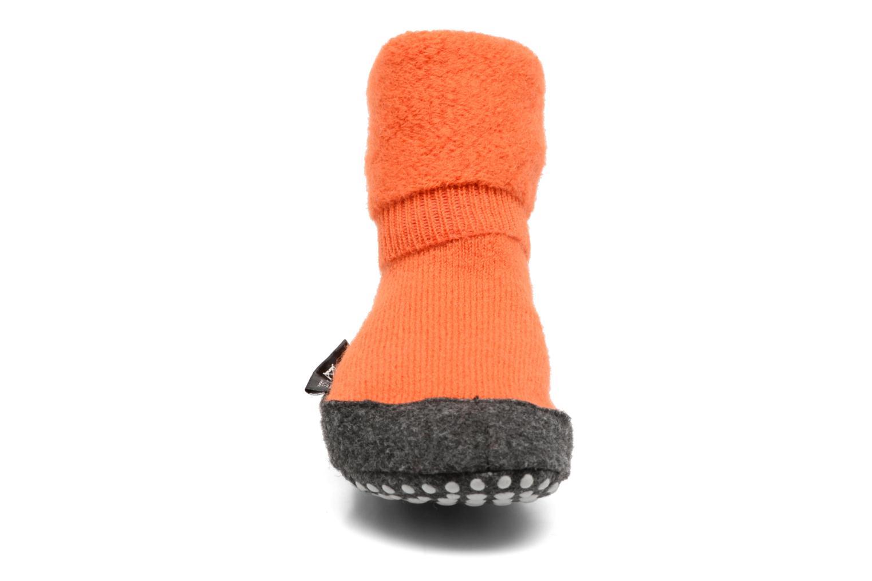 Chaussettes et collants Falke Chaussons-chaussettes Cosyshoes Orange vue portées chaussures