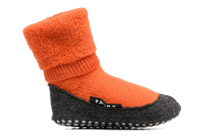 Chaussettes et collants Falke Chaussons-chaussettes Cosyshoes Orange vue derrière