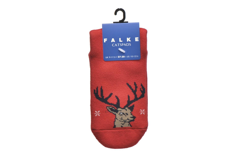 Sokken en panty's Falke Chaussons-chaussettes My Dear Catspads Rood achterkant