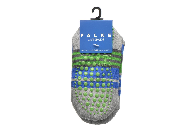 Medias y Calcetines Falke Chaussons-chaussettes Irregular Stripe Catspads Multicolor vistra trasera