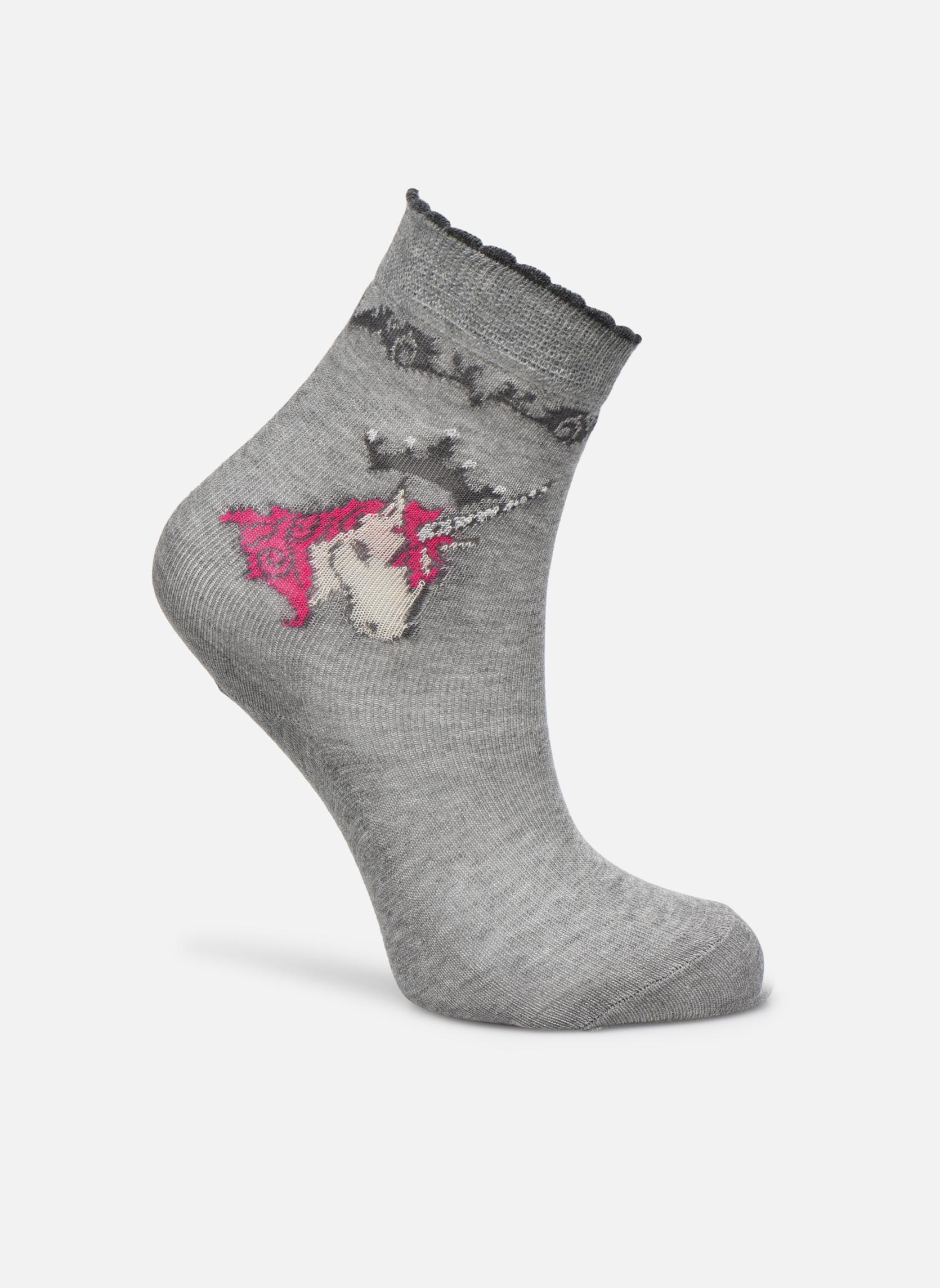 Chaussettes et collants Falke Chaussettes Unicorn Gris vue détail/paire