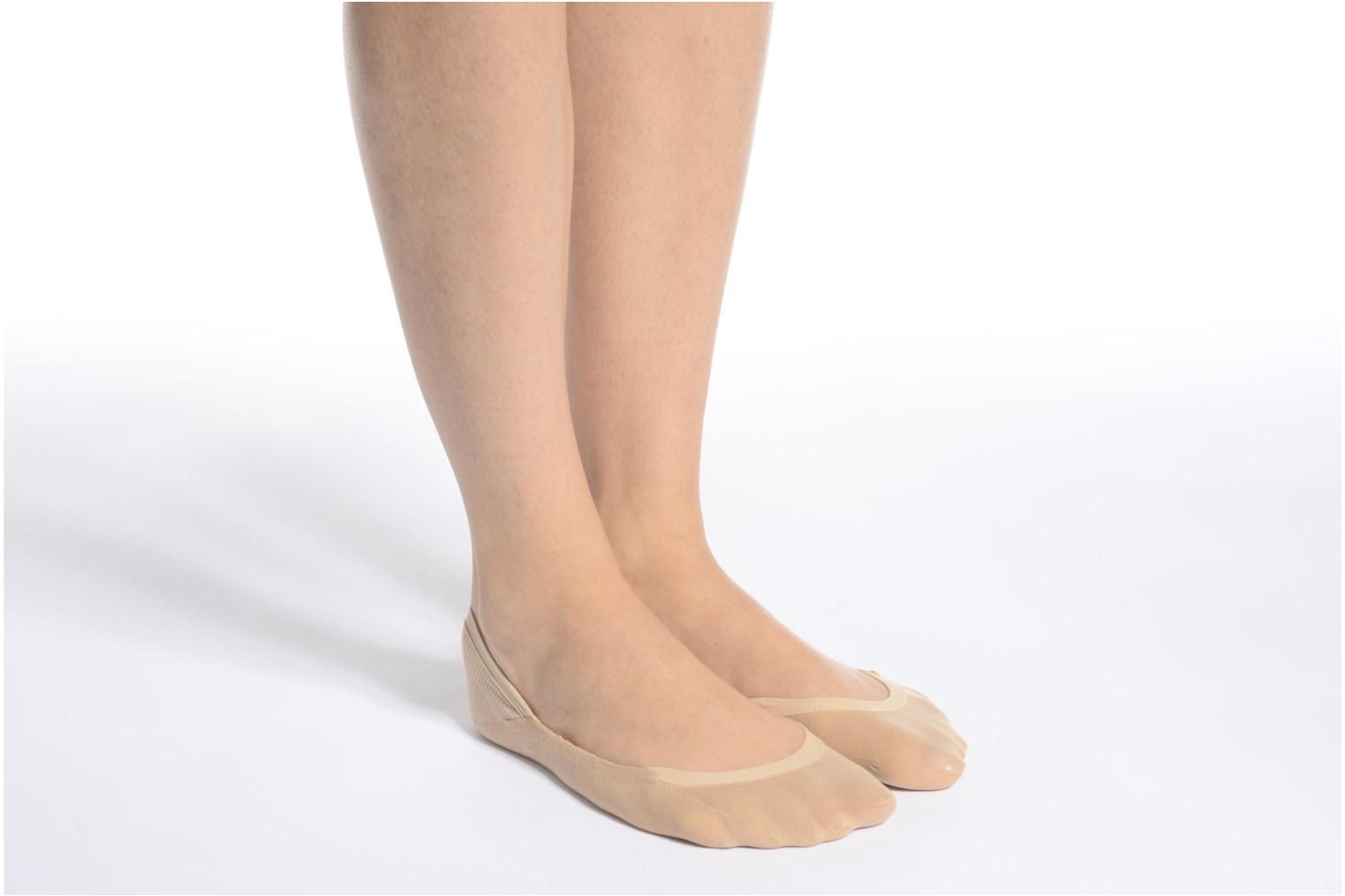 Socks & tights Falke Chaussettes invisibles Cotton step Black view from above