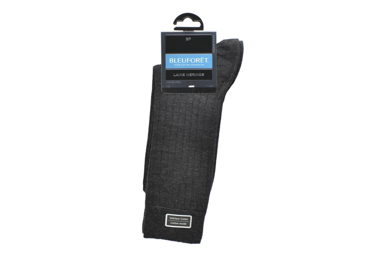 Chaussettes et collants BLEUFORÊT Chaussettes laine Intérieur Coton Gris vue derrière