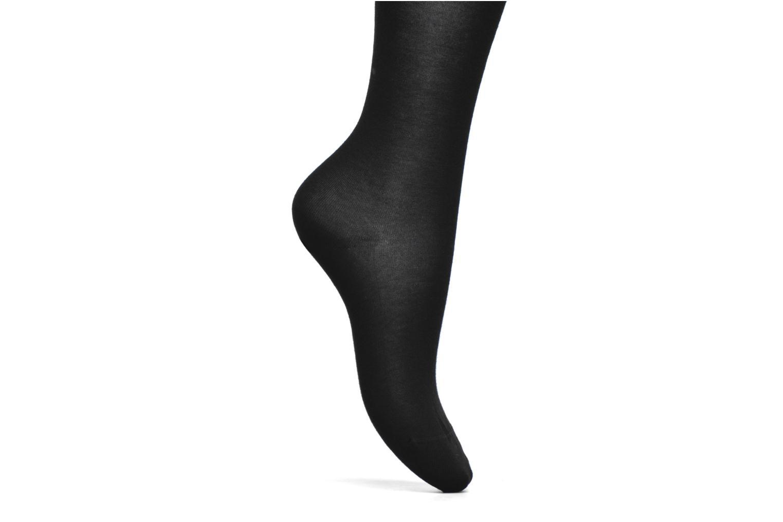 Socken & Strumpfhosen BLEUFORÊT Collant coton velouté schwarz ansicht von hinten