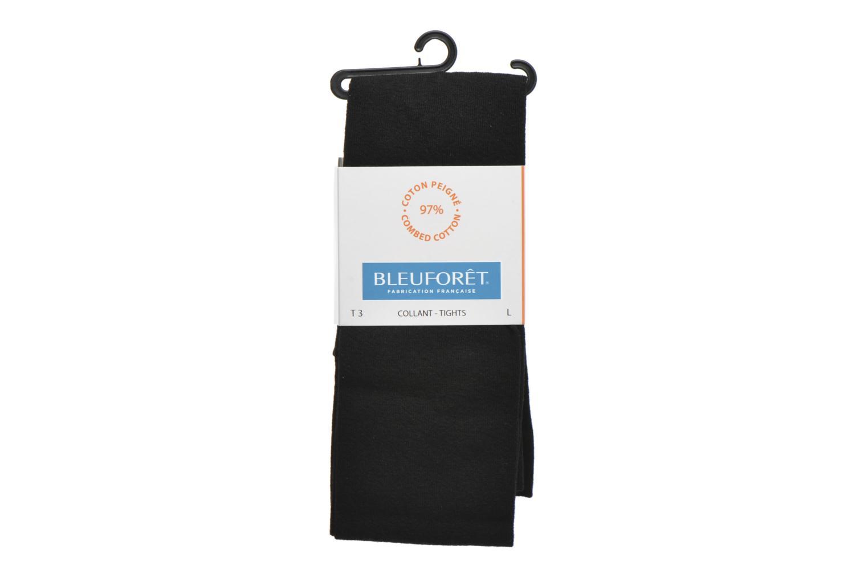 Collant coton velouté Noir-AR5