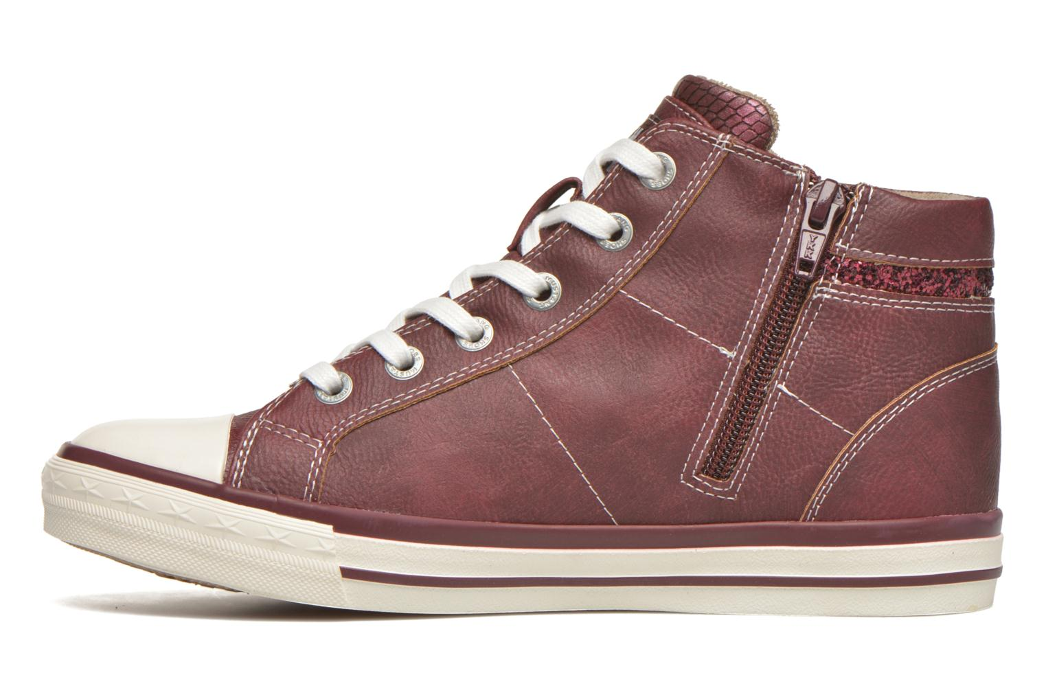 Trainers Mustang shoes Leni Burgundy front view