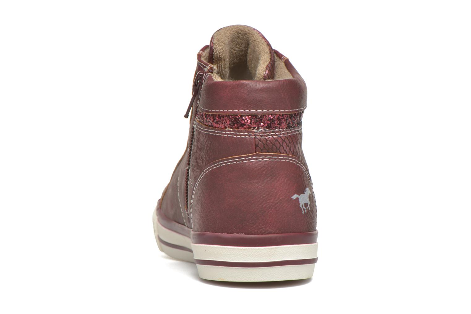 Baskets Mustang shoes Leni Bordeaux vue droite