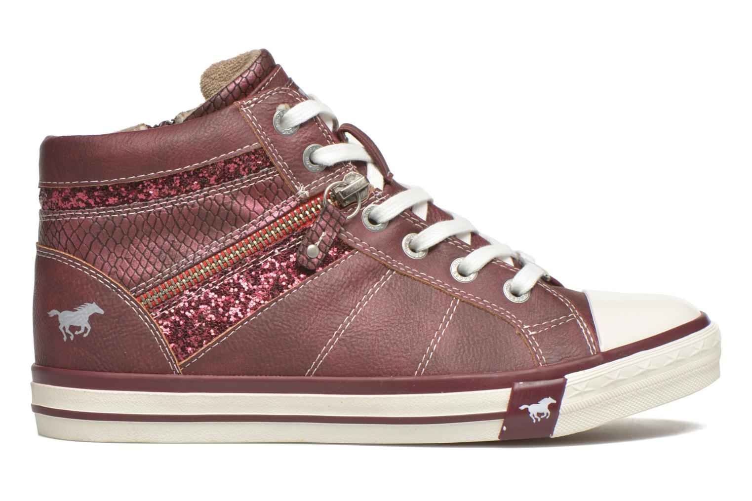 Sneakers Mustang shoes Leni Bordeaux achterkant