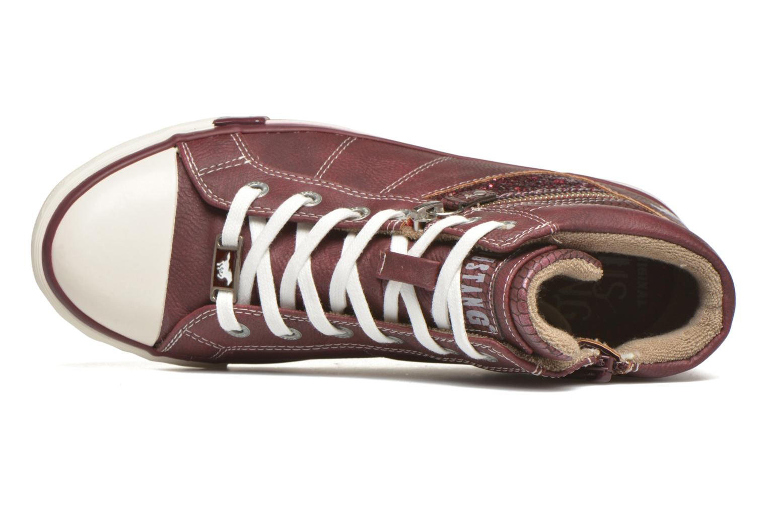 Baskets Mustang shoes Leni Bordeaux vue gauche
