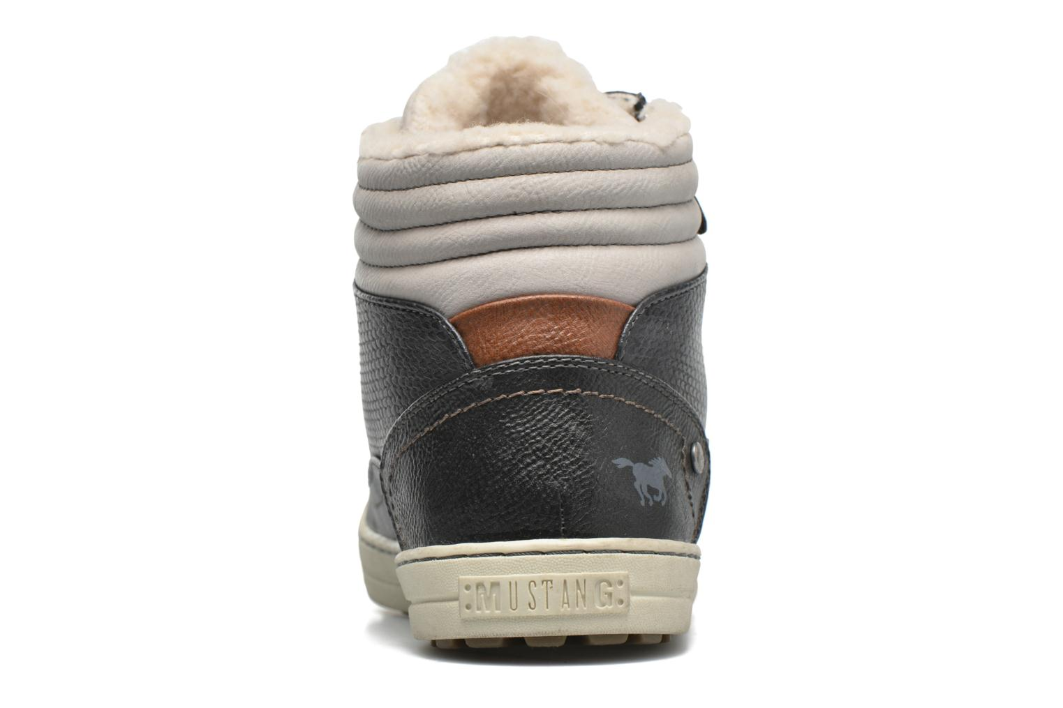 Trainers Mustang shoes Mitzi Blue view from the right